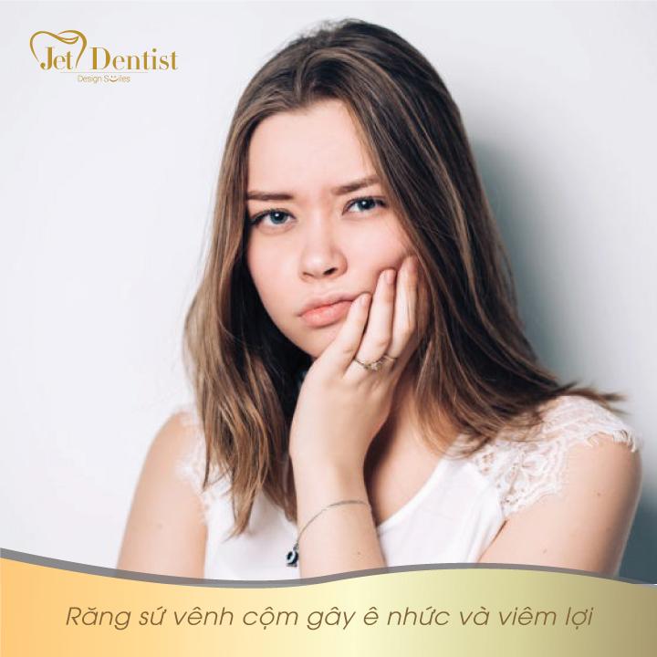 Viêm lợi sau khi làm răng sứ do đâu?